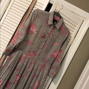 Banana Republic Dress Grey Pink Size 4